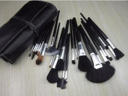 Black Brushes for Makeup Sets Brand Brushes Set 24 Pcs Black Professional Cosmetics Brush Kits Make Up Tools