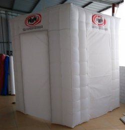 Wholesale new custom hot sale Excellent top quality White inflatable Square Tent For camping with Built In Air Blower