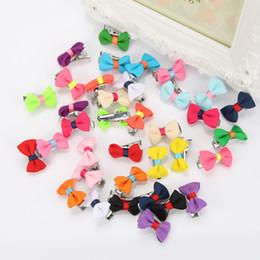 2cm Pet children bow tie Dog hair ornaments Hair Barrettes wholesale Cute BB Mini clip pet accessories 100pcs