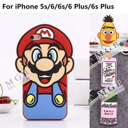 New Arrivals! Cute 3D Cartoon Silicone Phone Case For iPhone 5 5S 6 6S Plus Soft Back Cover LOVE POTION CHILL PILLS