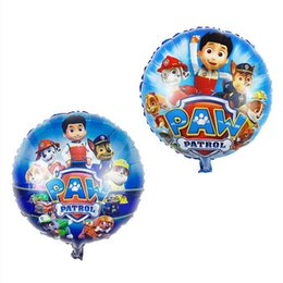 Wholesale Paw Foil Balloons inch Patrol Balloons Best Decoration For Kids Birthday Party