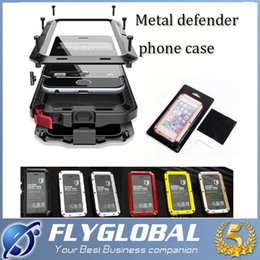 2016 Waterproof Metal Case Hard Aluminum Dirt Shock Proof Mobile Cell Phone Cases Cover for iphone 4 4s 5 5c 5s 6 6s 6s plus free DHL