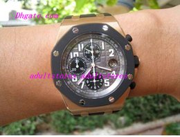 Wholesale Luxury Watches Rubber Bracelet Offshore K Rose Gold Rubber Clad Chrono Ref OK MAN WATCH Wristwatch