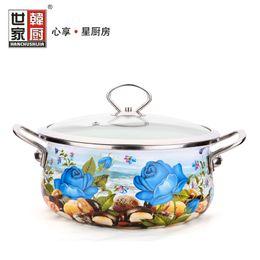 Wholesale-free shipping porcelain Pots and pans small soup pot non-stick thickening ceramic enamel pot enamel soup pot