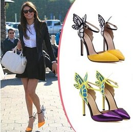 Vampire Diaries female lead colorful butterfly high heel sandals