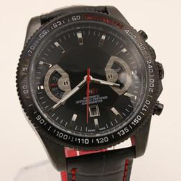 Wholesale Mens Black Watch Calibre RS RS2 Watches Men leather Automatic Mechanical Pvd Black Diver Sport Cheap Wristwatches