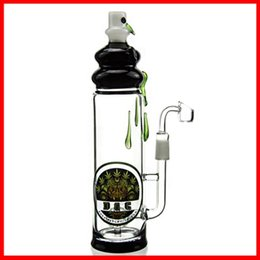 Wholesale Two Function Inch Clear Glass Ball Shaped Chamber Inner Barrel Perc Recycler Oil Rig Glass Bong Water Pipe Best Bong DGC1205