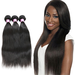 Brazilian Hair Unprocessed Human Hair Weaves Peruvian Malaysian Indian Cambodian Hair Extensions Straight Bundle Dyeable 8A Good Quality