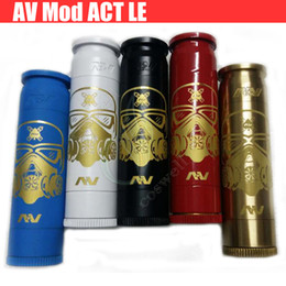 Wholesale Newest AV Able Mod Stormtrooper full Mechanical Mod ACT LE AV lyfe hybrid V2 Brass copper battery Atomizers Vapor mods e cigs DHL