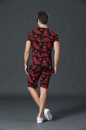 Wholesale PP Sweatshirt Men Summer Fashion Tracksuits Men s Casual Sports Suit Outdoor Robin Sportswear Sets Man Short Sleeve T Shirt Shorts