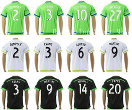 Wholesale Seattle Sounders Jersey Soccer Club DEMPSEY EVANS ALONSO MARTINS YEDLIN Football Shirt PAPPA MARSHALL BARRETT NEAGLE