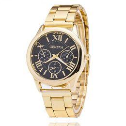 New Stainless Steel Geneva Watch Men Gold Watches Luxury Men Business Quartz Watch Relogio Masculino Montre Homme BW1699