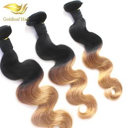T 1B 27 Ombre Hair Extensions Brazilian Peruvian Malaysian Ombre Hair Weaving Two Tone Color Hair