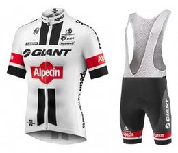 TOUR DE FRANCE 2016 GIANT-Alpecin TEAM WHITE Short Sleeve Cycling Jersey Bike Bicycle Wear + BIB Shorts Size XS-4XL