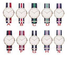 Wholesale HOT Top Brand Luxury Style D W Watches Daniel Watch For Men Women Nylon Strap Military Quartz Wristwatch colors Reloj hombre DHL free