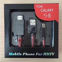 Wholesale Micro USB TO HDMI Adapter Cable Full P MHL to HDMI Media adapter HDTV For Samsung Galaxy S5 S4 S3 Note2 Note3 Best Price