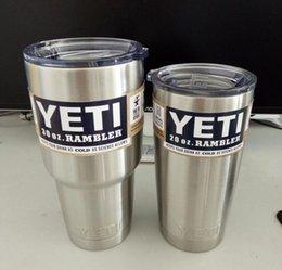 Wholesale Yeti oz Rambler Tumbler Bilayer Stainless Steel Insulation Cup OZ Cups Cars Beer Mug Large Capacity Mug Tumblerful best