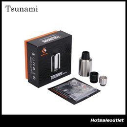 Wholesale GeekVape Tsunami RDA Tsunami Tsunami Glass Window Atomizer with Adjustable Airflow Various Drip Tip Original