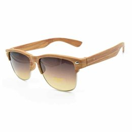 Wholesale 2016 Women sun glasses fashionable restore ancient ways natural environmental protection man bamboo wood sunglasses