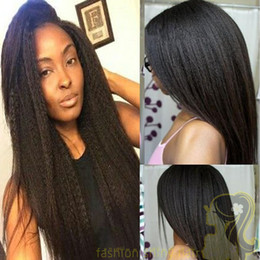 Light Yaki Brazilian Hair Lace Front Wig 130% Density Natural Color Human Hair Wigs Yaki Straight Full Lace Wig With Baby Hair