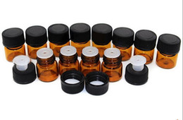 Factory Price 1ml Amber Mini Glass Bottle , Amber Sample Vial Small Essential Oil Bottle Travel Must 500Pcs lot By DHL Free Shipping