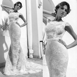 Wholesale 2016 High Quality Lace Cap Sleeve Tight Fitting Mermaid Arab Wedding Bridal Gown Dresses Online Store China W2663
