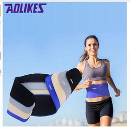 Wholesale AOLIKES Piece Yoga fitness Waist Back Brace Support Sports Adjustbable Bodybuilding Belt Lumbar Strain Pain Protector Colors