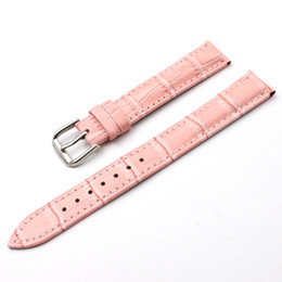 Leisure Business High Quality women Watch Strap Durable Fashion Grain Style Leather pink Bamboo grain Watch Band 12mm 14mm 16mm 18mm 20mm