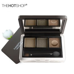 Wholesale The Hot Shop Three Color Eyebrow Powder Bouncing Eyebrow Powder Waterproof Anti Sweat Is Not Tuozhuang Cosmetics Agents Joined Distribution