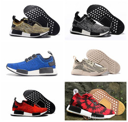Wholesale Cheap NMD Original Runner PK Black Red Blue Men Sports Running Shoes all black all white red girls athletic shoes size