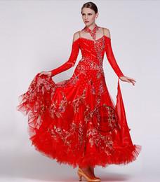 redcustomize Fox trot ballroom Waltz tango salsa Quick step competition dress
