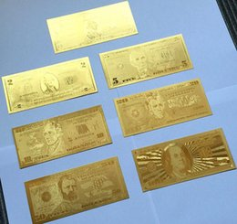 Wholesale 2016 Hot Sales The New Creative Gifts Of K Gold Commemorative Banknotes Novelty Home Furnishing Decorative Gift Dollar or Euro