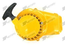 Wholesale Yellow ALUMINUM PULL STARTER START RECOIL for CC MINI POCKET BIKE ATV