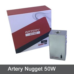 Wholesale AUTHENTIC Artery Nugget Box Mod W Vape Mod mAh by Artery Vapor E Cigs Mod Nugget Mod DNA Vapes DHL Free TZ707