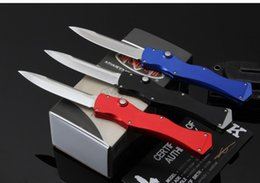 Wholesale Microtech knives halo iv Rev II new three color outdoor camping knife D2 blade Aluminium Alloy handle utility EDC survivl knife