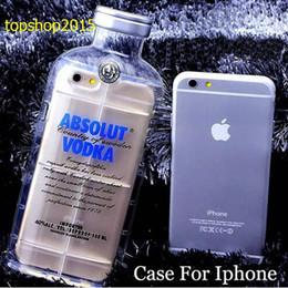 2017 cas transparents pour iphone 4s 3D Transparent ABSOLUT VODKA Téléphone Étuis Pour Iphone 6 5 5 4 4S 6 Plus Cell Phone Coquille de protection Vodka de luxe absolu vodka bouteille de vin cas transparents pour iphone 4s autorisation
