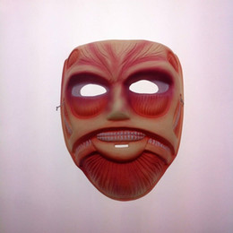 Attack on Titan PVC green plastic mask meaty Jun muscle man mask of terror mask animation Japanese fashion