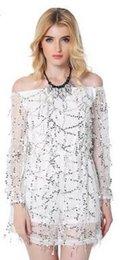 Wholesale New American Apparel Leak shoulder Long Sleeve Sequins Skirts