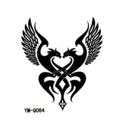 free shipping 2 pieces wholesale tattoos Male and female waterproof arm tattoo Love is the password Hand in hand forever