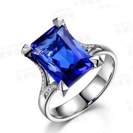 Victoria Wieck Luxury Jewelry Handmade Men Prong Set 6ct Sapphire Cz Diamond 925 Sterling silver Wedding Band Ring Gift Size 7-13
