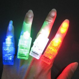 Promotion doigts laser LED Finger Lights Beams Flashing Laser Rings Raves Neon Glow Lamps
