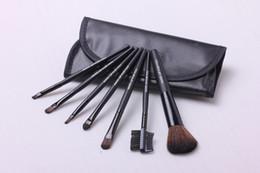 Makeup Brushes Make Up Brush Set Kits Eyelash Brush Blush Brush Eye-shadow Brush Sponge Sumudger 7pieces Make Up Tools PU Bag DHL free