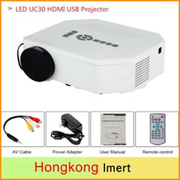 Wholesale New UC30 Mini LED Projector high brightness Pixels Portable Home Theater Projector Screen Size Up to inches