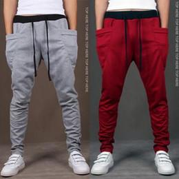 Wholesale-Harem Pants New Style Fashion 2016 Casual Skinny Sweatpants Sport Pants Trousers Drop Crotch Jogging Pants Men Joggers Sarouel