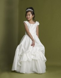 2016 New Spring Fashion Jewel Refinement Cute Flower Little Girl's Pageant Dresses Birthday Party Wedding Custom Made Kids Dresses