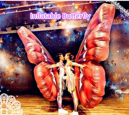 Wholesale Wearable m Inflatable Butterfly Wing for Stage Party and Performance