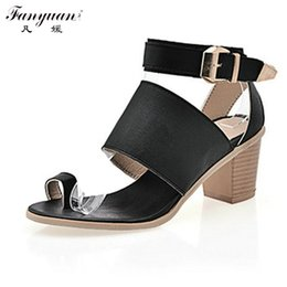 Wholesale Sexy Platform Shoes For Sale - Big Size 34-43 Fashion Thick High Heels Platform Summer Sandals Shoes For Women Sexy European Style Dress Shoes Hot Sale