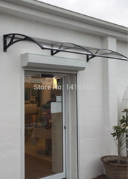 Wholesale DS100200 A x200CM Home Use Simple And Nice Window Awning Aluminum Bracket With Polycarbonate Board Window Awning