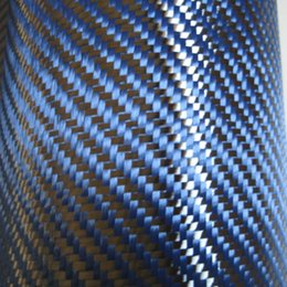 Wholesale Blue kevlar and k Carbon Fiber fabric cloth Twill K g m2 for Car Parts Sport Equipments not pvc vinly film