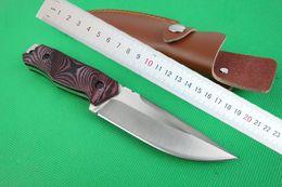 Compra Online Trefilado de acero-Envío de la gota de la supervivencia del cuchillo recto 58HRC 5Cr15 acero trefilado cuchillo de hoja acabado de excursión al aire libre de la caza cuchillos de hoja fija